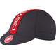 Castelli Retro 3 Cap anthracite/ruby red